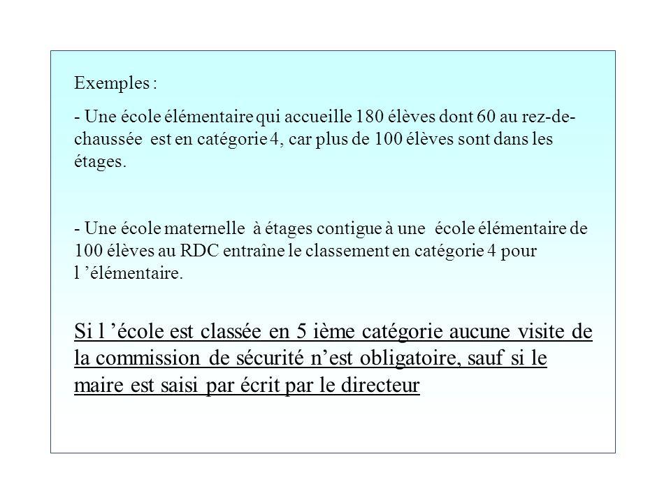 C4 : lorsque l effectif est compris entre le seuil de la cinquième et 300 personnes. C5 : Si l effectif est inférieur à l un de ces nombres, l école e