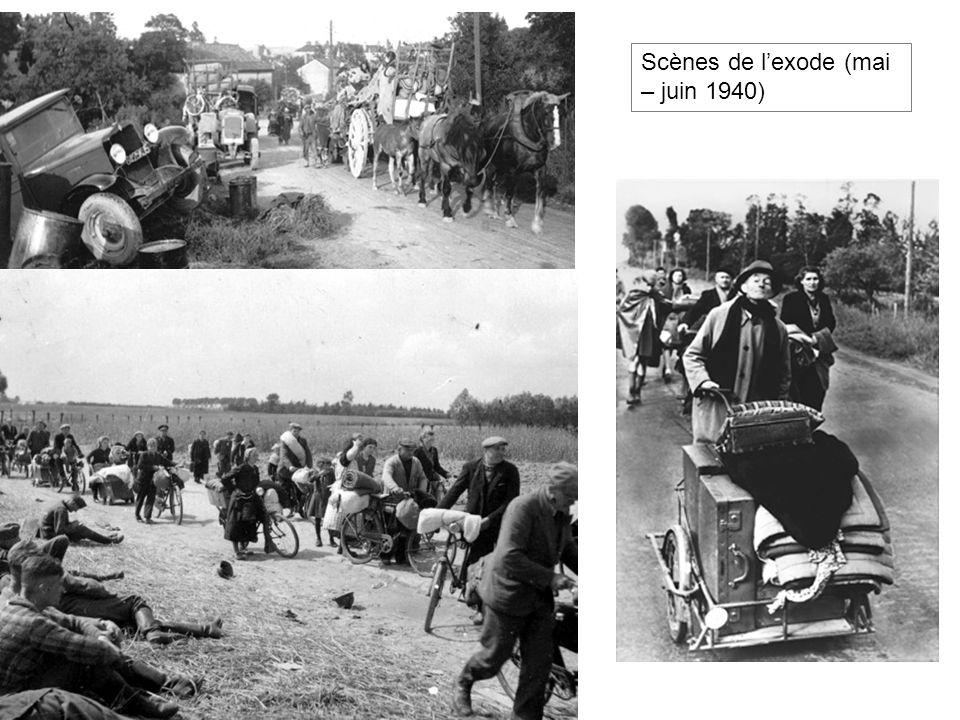 Scènes de lexode (mai – juin 1940)