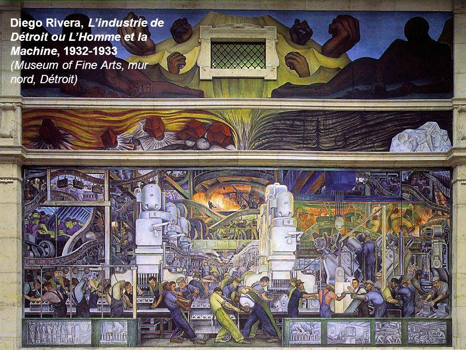 Diego Rivera, Lindustrie de Détroit ou LHomme et la Machine, 1932-1933 (Museum of Fine Arts, mur nord, Détroit)