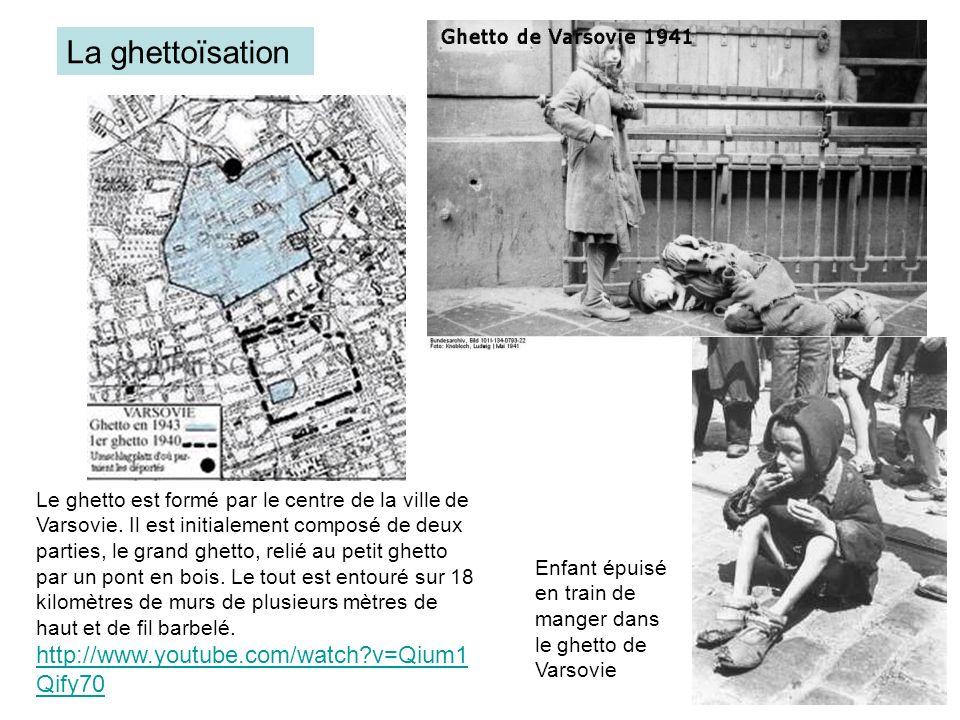 Le ghetto est formé par le centre de la ville de Varsovie. Il est initialement composé de deux parties, le grand ghetto, relié au petit ghetto par un