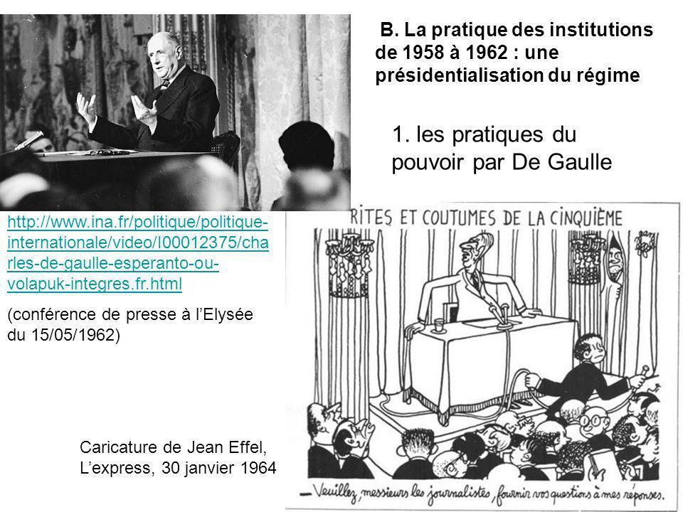 Caricature de Jean Effel, Lexpress, 30 janvier 1964 http://www.ina.fr/politique/politique- internationale/video/I00012375/cha rles-de-gaulle-esperanto