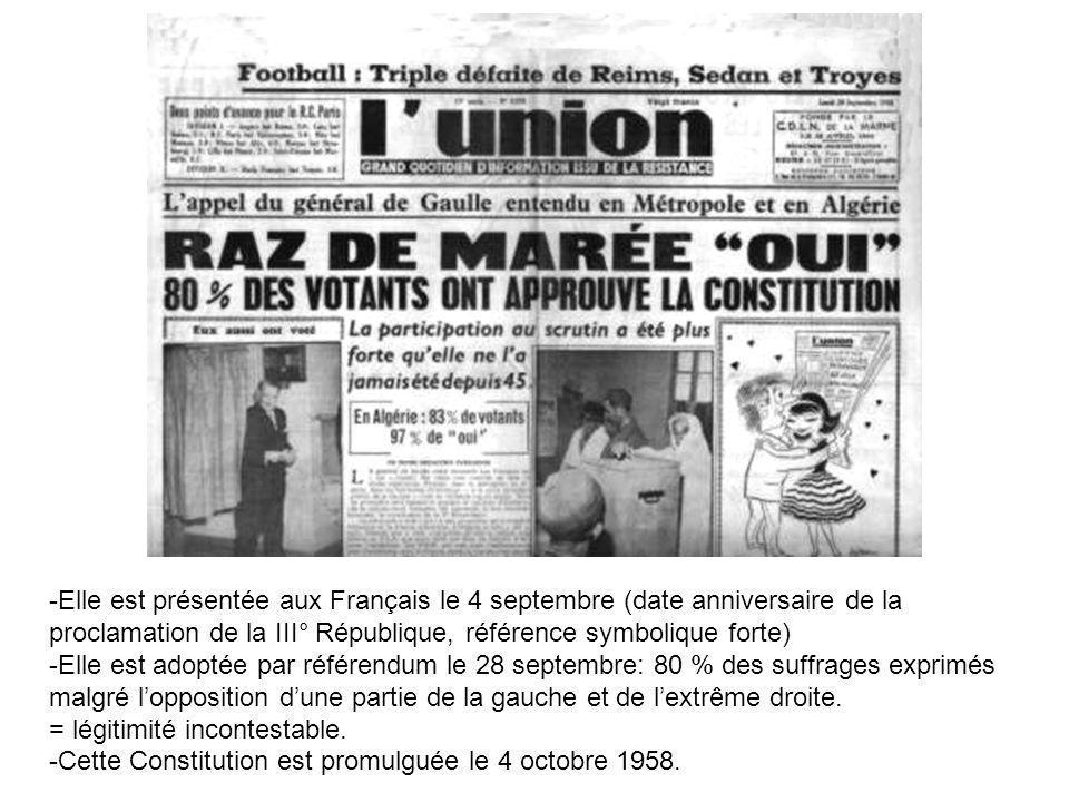 -Elle est présentée aux Français le 4 septembre (date anniversaire de la proclamation de la III° République, référence symbolique forte) -Elle est ado