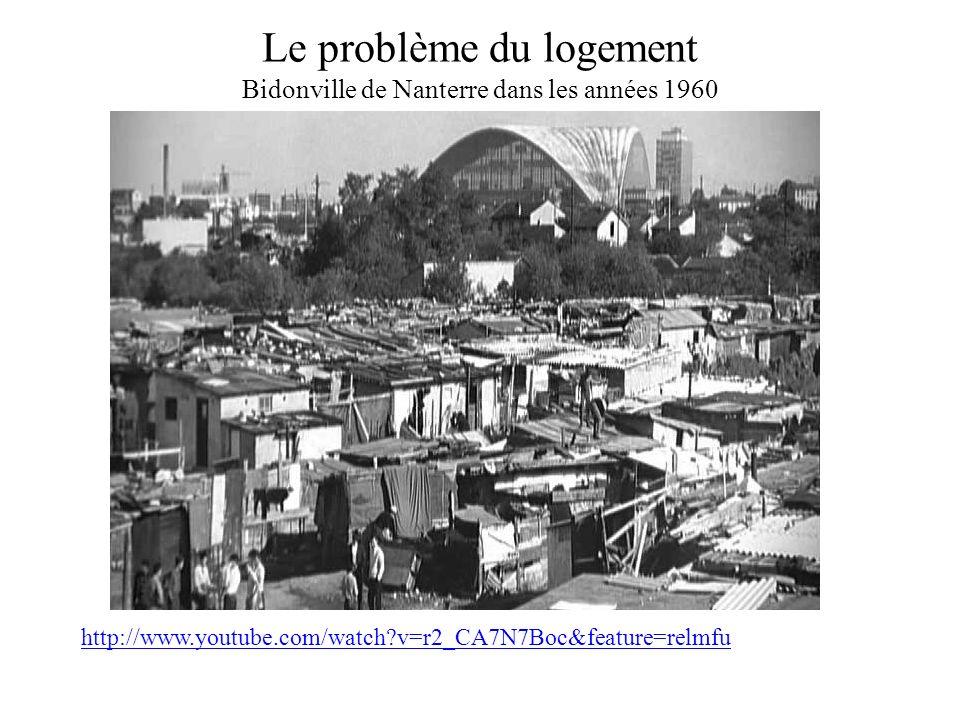 Le problème du logement Bidonville de Nanterre dans les années 1960 http://www.youtube.com/watch?v=r2_CA7N7Boc&feature=relmfu