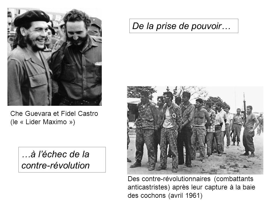 Che Guevara et Fidel Castro (le « Lider Maximo ») Des contre-révolutionnaires (combattants anticastristes) après leur capture à la baie des cochons (a