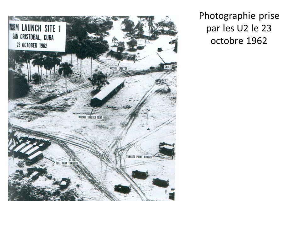 Photographie prise par les U2 le 23 octobre 1962
