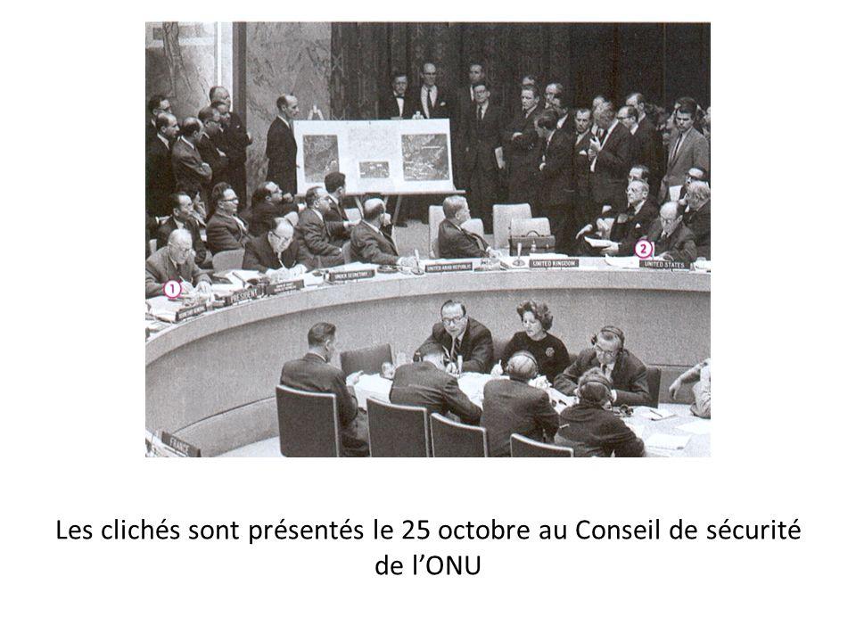Les clichés sont présentés le 25 octobre au Conseil de sécurité de lONU