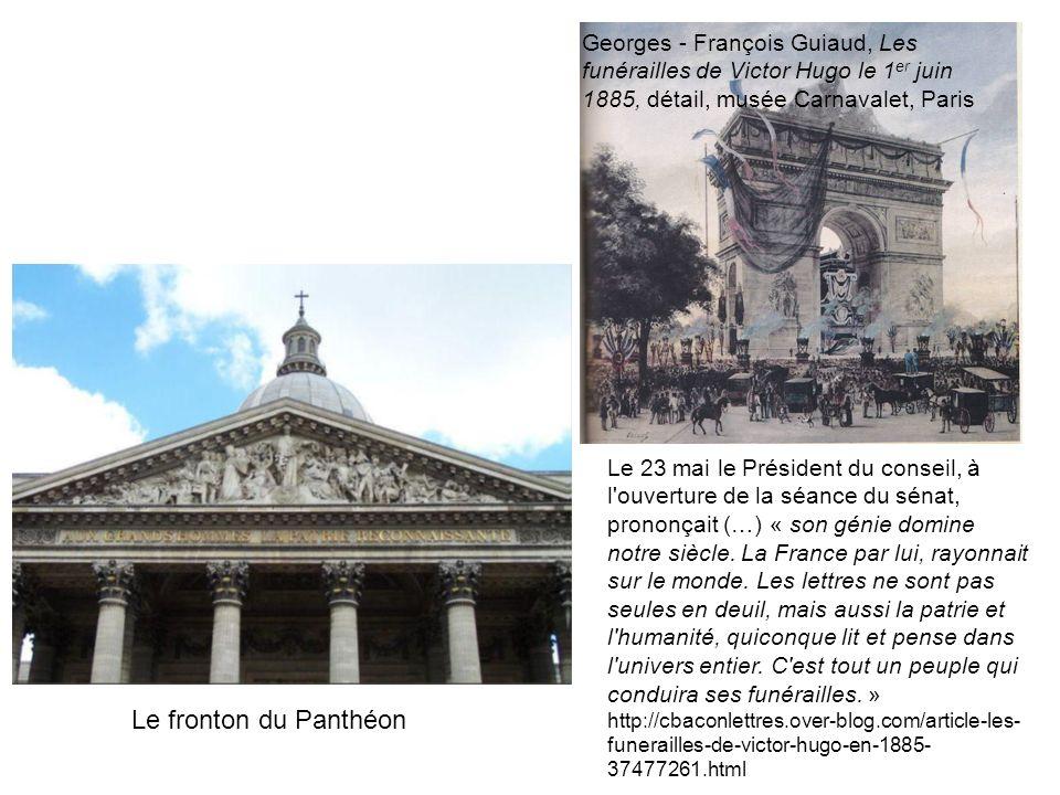 Georges - François Guiaud, Les funérailles de Victor Hugo le 1 er juin 1885, détail, musée Carnavalet, Paris Le 23 mai le Président du conseil, à l'ou