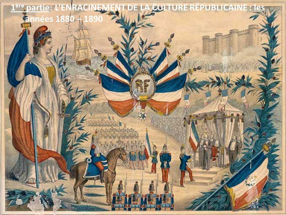 1 ère partie: LENRACINEMENT DE LA CULTURE RÉPUBLICAINE : les années 1880 – 1890