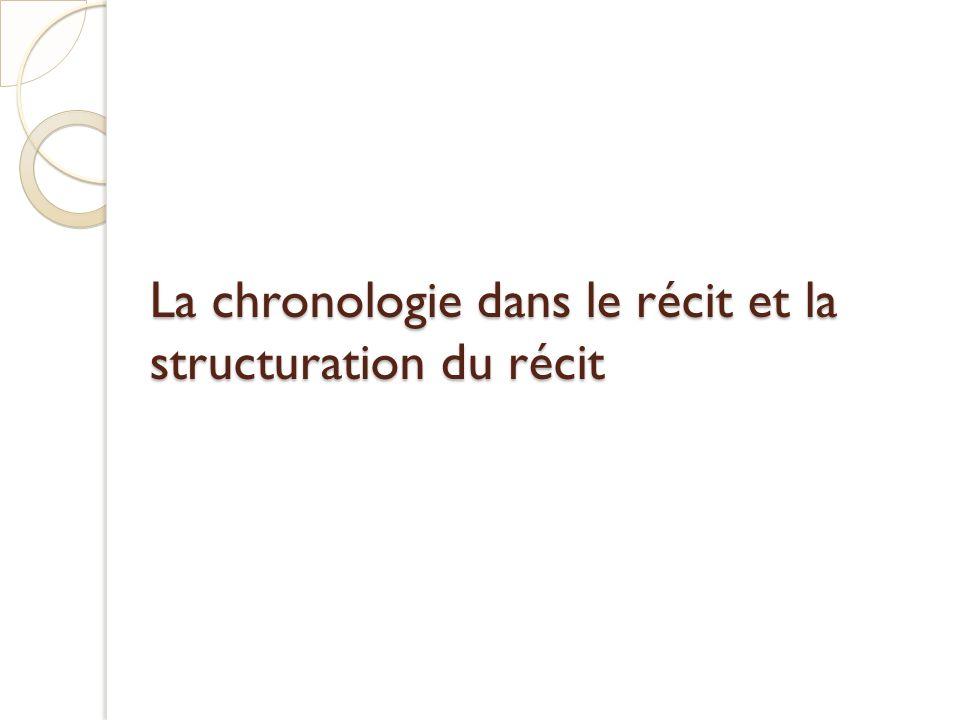 La chronologie dans le récit et la structuration du récit