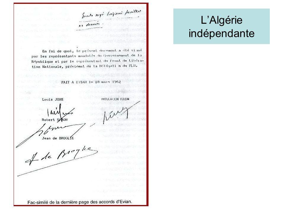LAlgérie indépendante