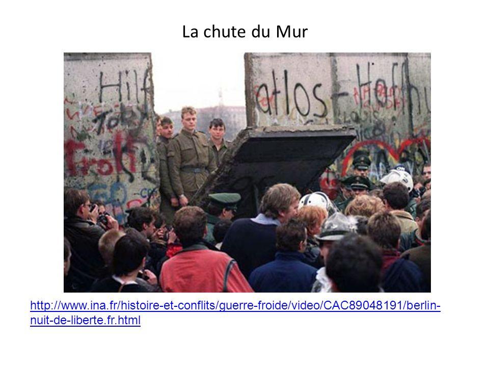 La chute du Mur http://www.ina.fr/histoire-et-conflits/guerre-froide/video/CAC89048191/berlin- nuit-de-liberte.fr.html