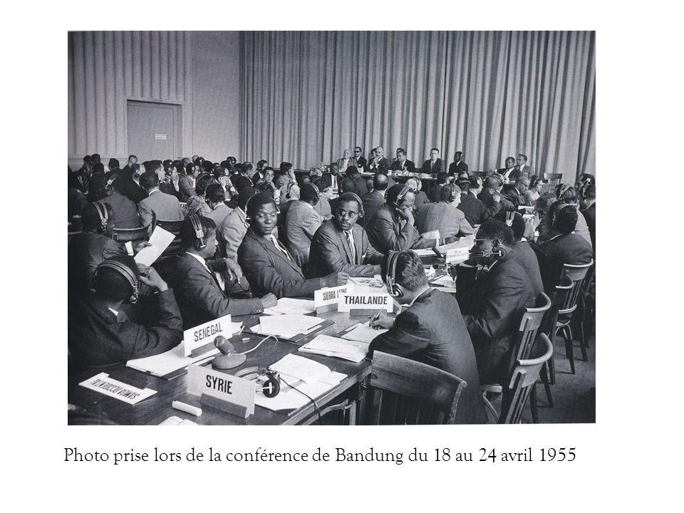Photo prise lors de la conférence de Bandung du 18 au 24 avril 1955