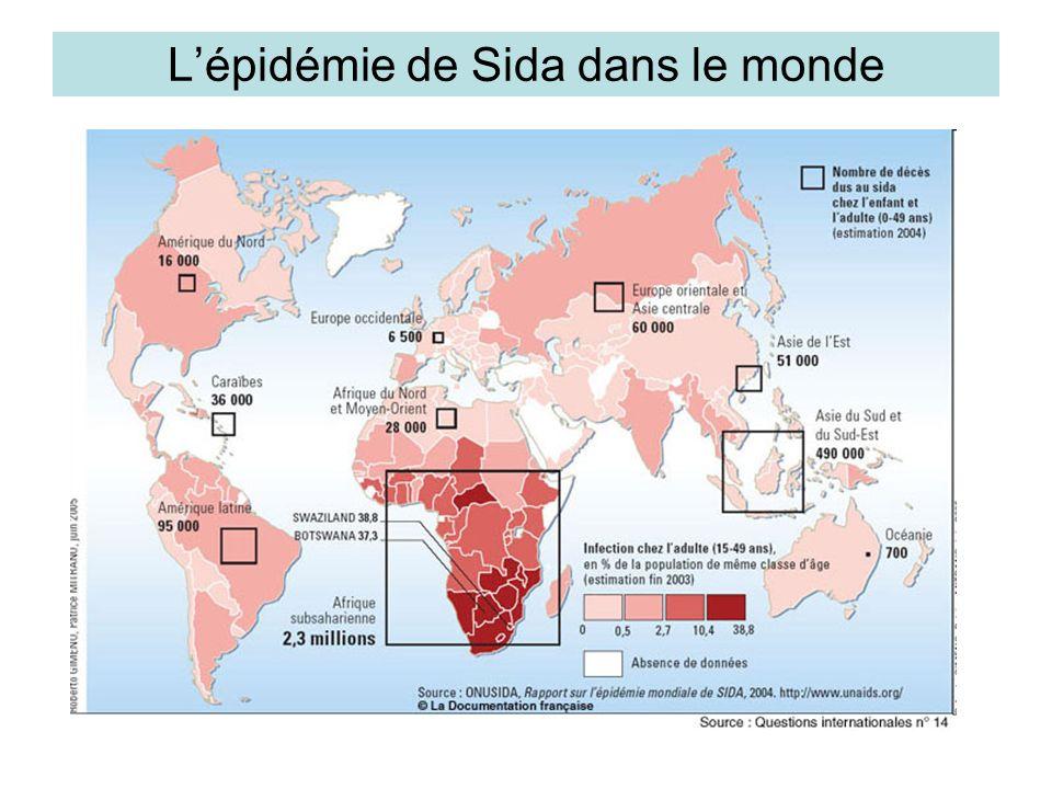 Lépidémie de Sida dans le monde