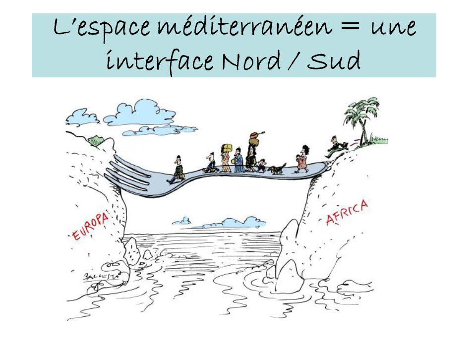 Lespace méditerranéen = une interface Nord / Sud