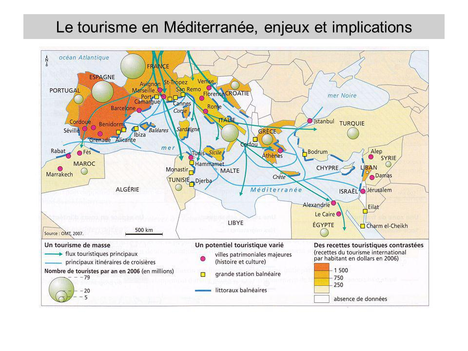 Les lieux du tourisme en Méditerranée En quoi la Méditerranée est-elle un bassin touristique majeur .
