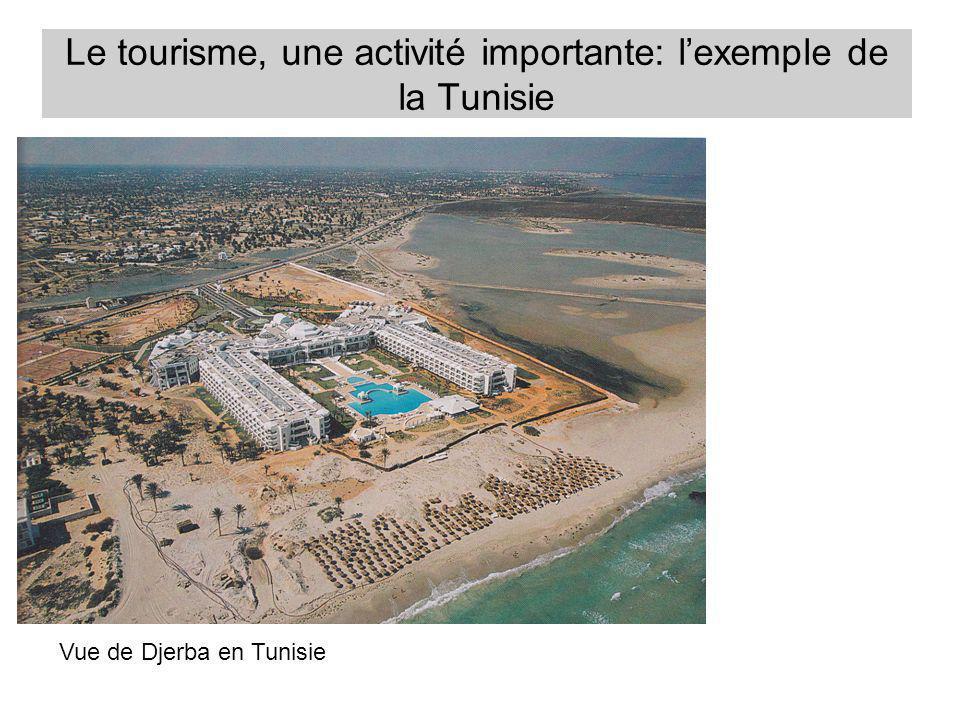 Le tourisme, une activité importante: lexemple de la Tunisie Une capacité hôtelière très concentrée sur la côte.