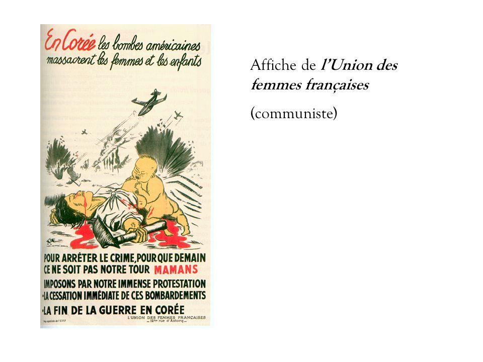 Affiche de lUnion des femmes françaises (communiste)