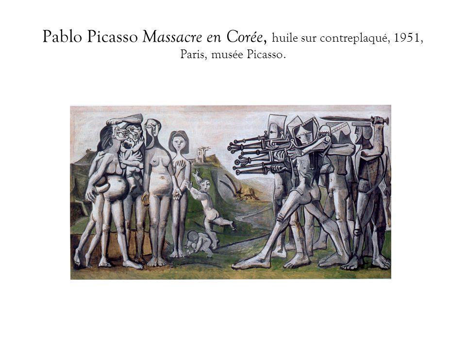Pablo Picasso Massacre en Corée, huile sur contreplaqué, 1951, Paris, musée Picasso.