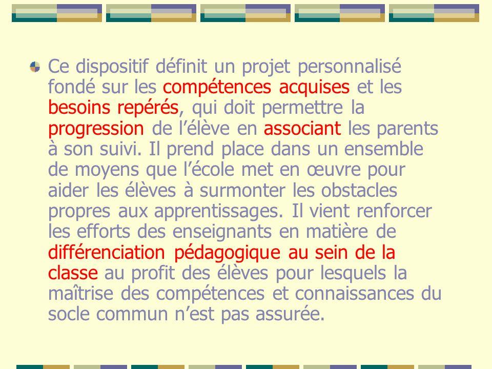 Un travail en 4 temps repérage des élèves en difficulté définition des programmes daction mise en œuvre des actions évaluation des effets de chaque programme.