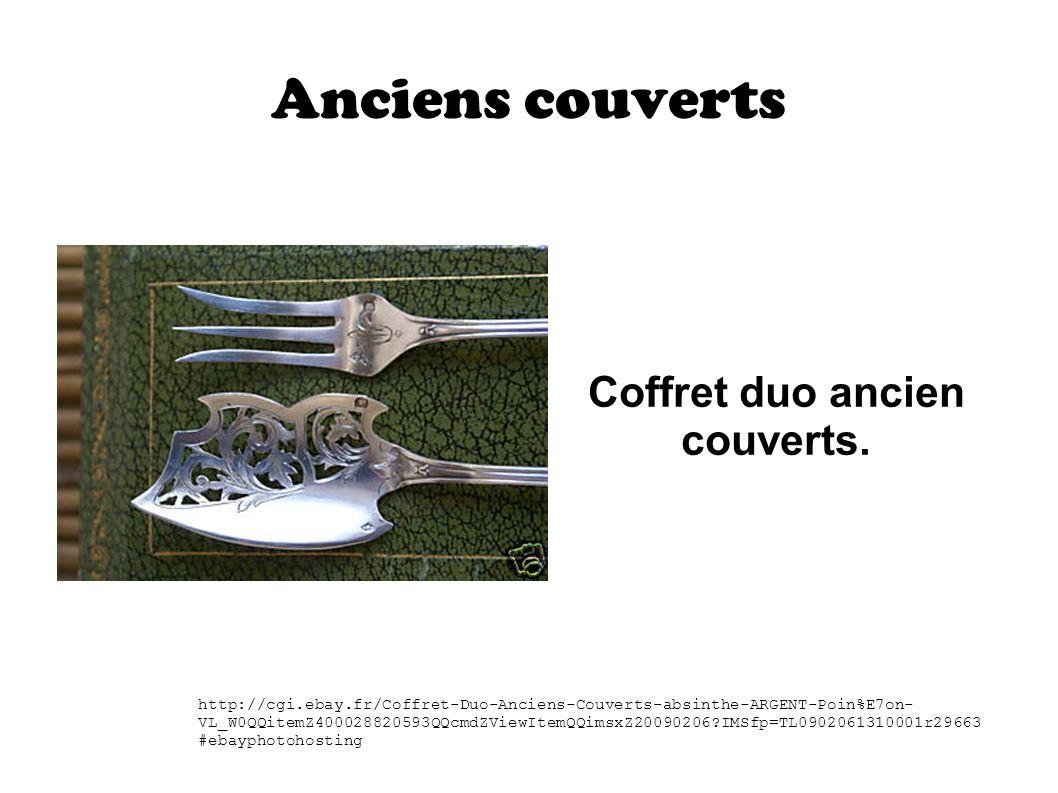Anciens couverts Coffret duo ancien couverts. http://cgi.ebay.fr/Coffret-Duo-Anciens-Couverts-absinthe-ARGENT-Poin%E7on- VL_W0QQitemZ400028820593QQcmd