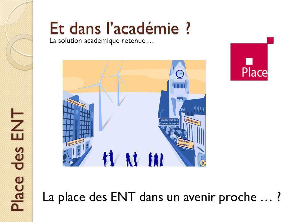 Et dans lacadémie ? Place des ENT La solution académique retenue … La place des ENT dans un avenir proche … ?