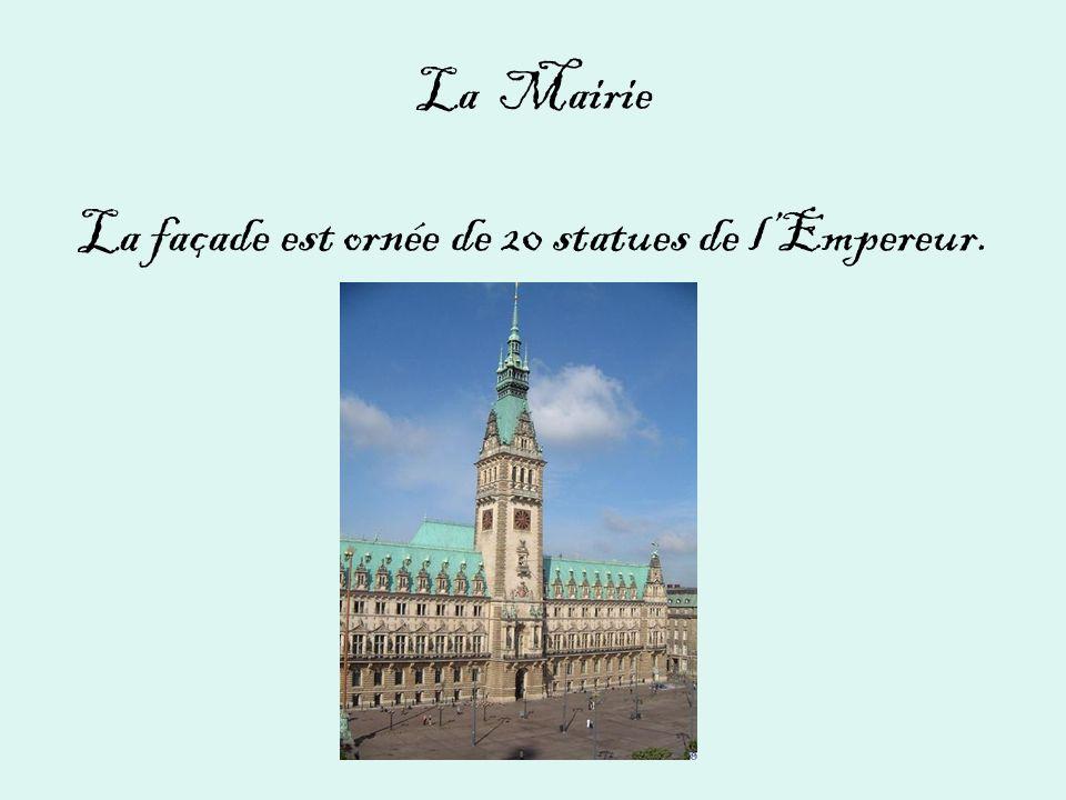 La Mairie La façade est ornée de 20 statues de lEmpereur.