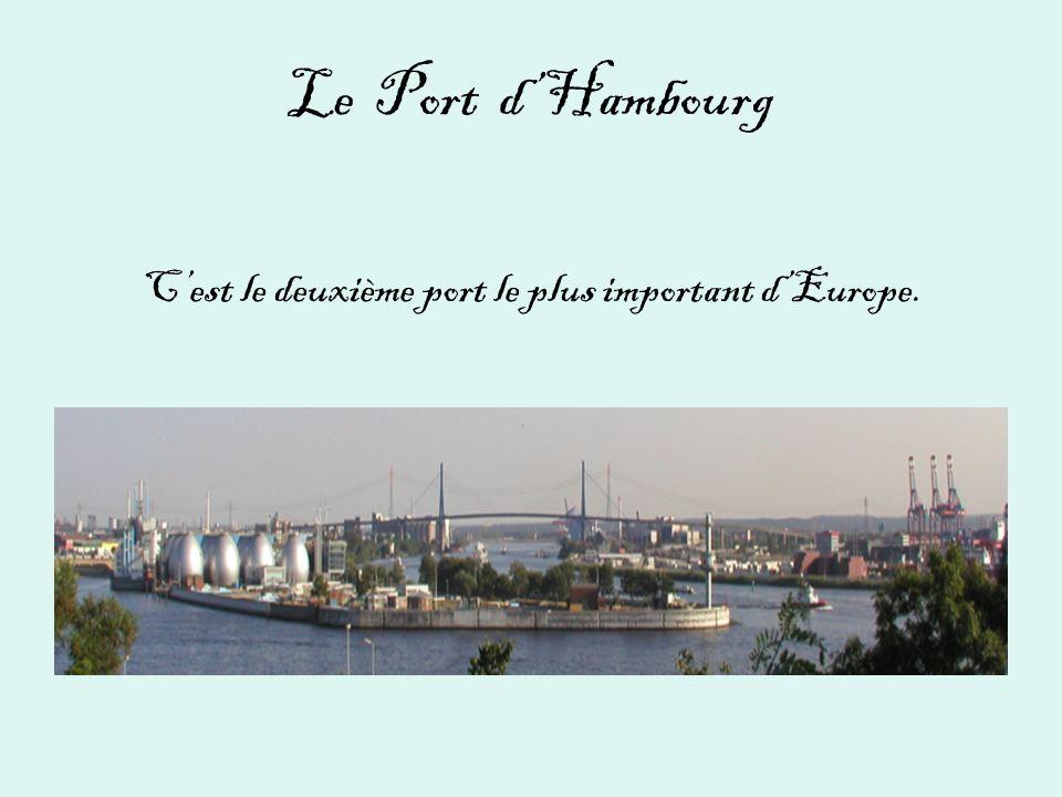Le Port dHambourg Cest le deuxième port le plus important dEurope.