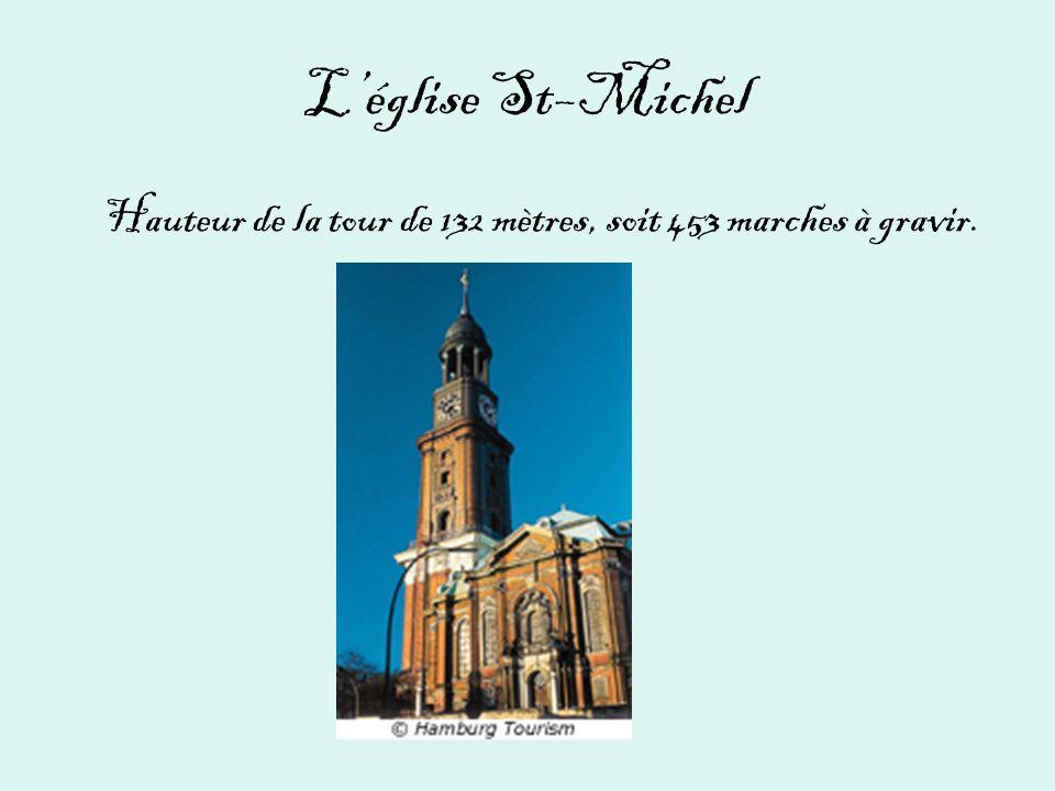 Léglise St–Michel Hauteur de la tour de 132 mètres, soit 453 marches à gravir.