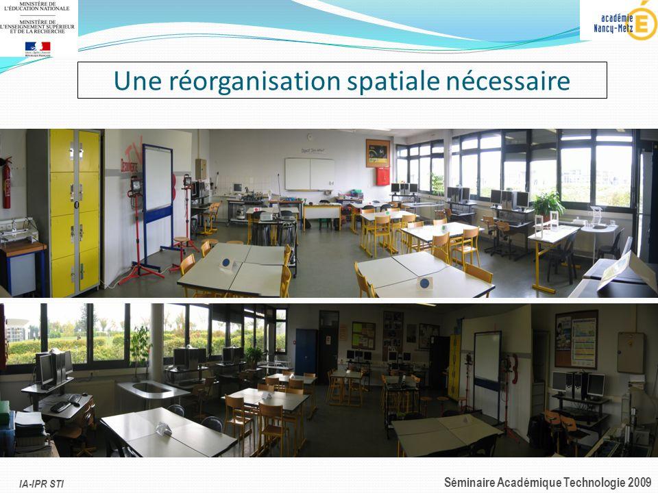 IA-IPR STI Séminaire Académique Technologie 2009 Une réorganisation spatiale nécessaire