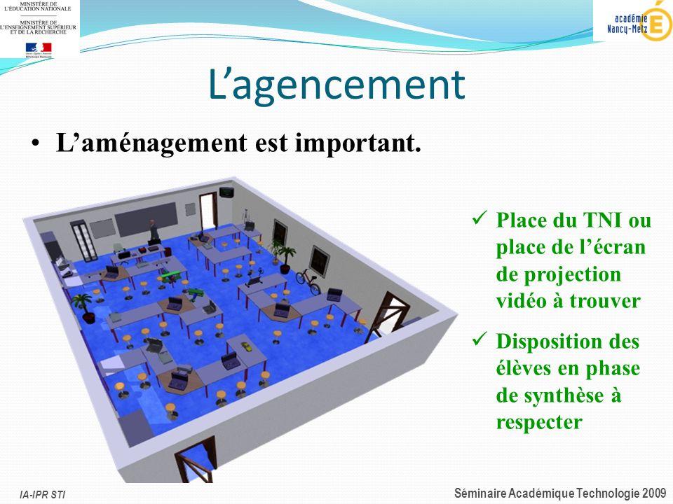IA-IPR STI Séminaire Académique Technologie 2009 Les supports denseignement Les objets simulés :