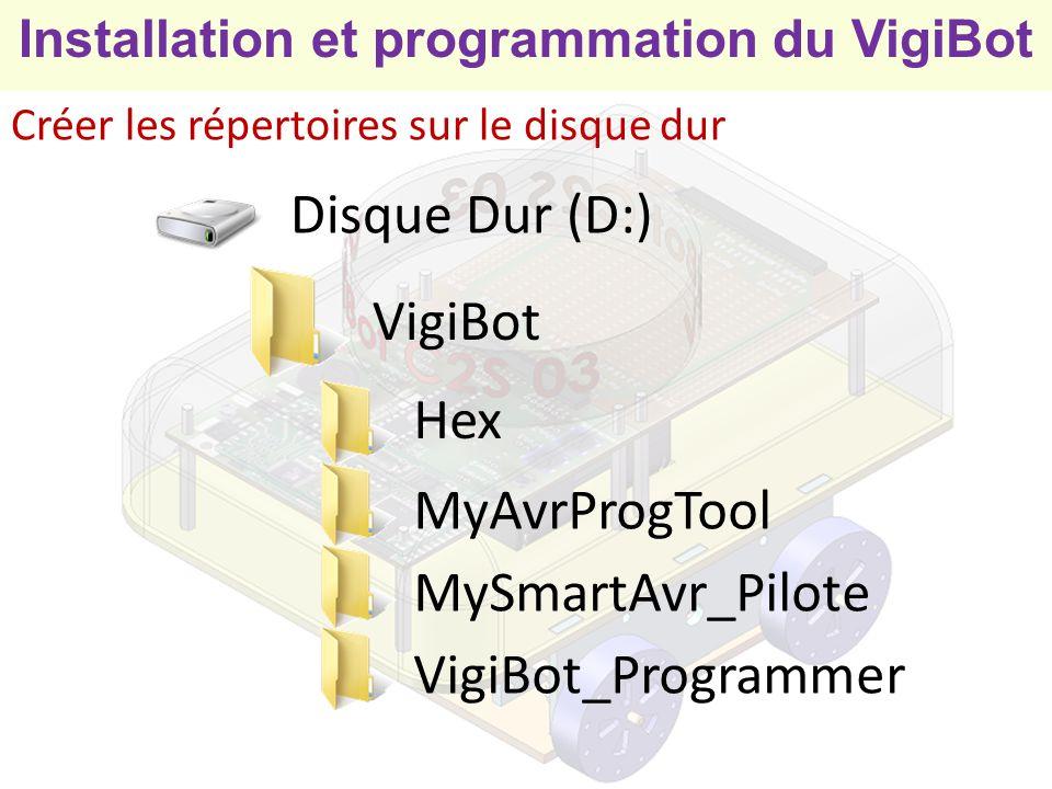Installation et programmation du VigiBot Phase 2 Professeur et élèves