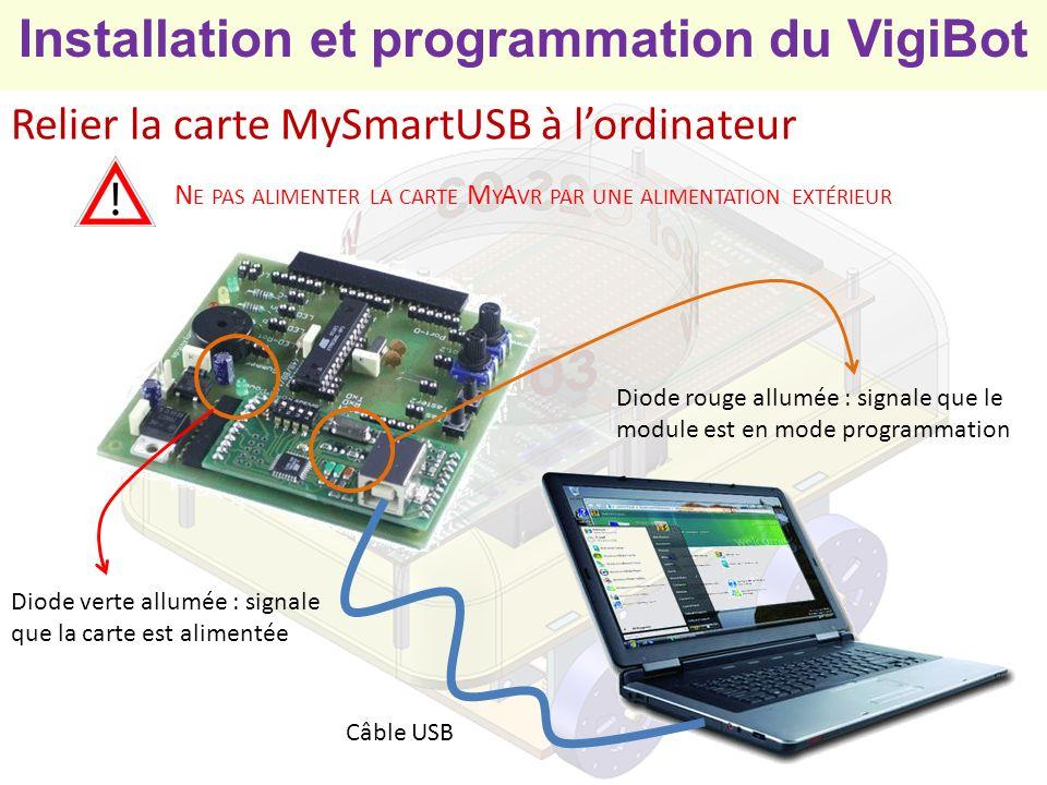 Installation et programmation du VigiBot Première utilisation du microcontrôleur Avant toute utilisation du microcontrôleur il faut le configurer Télécharger le fichier MyAvrProgToolMyAvrProgTool myavr_progtool_120_b1678.zip 1,34 Mo MyAvrProgTool Extraire les fichiers de larchive myAVR_ProgTool.exe