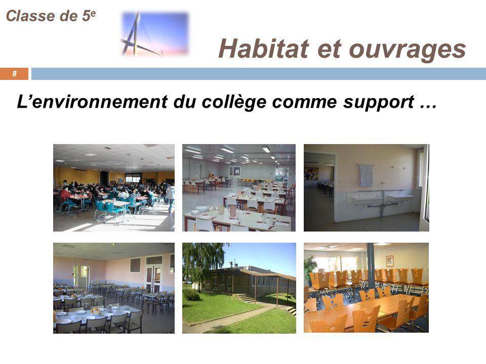 Habitat et ouvrages 29 Classe de 5 e Evaluation : Par des études de cas.
