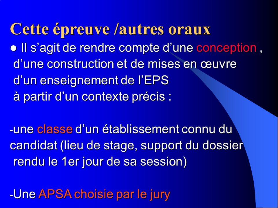 Libellé de lépreuve(arrêté du 3/08/93) exposé entretien Cette épreuve comporte un exposé suivi dun entretien avec les membres du jury.