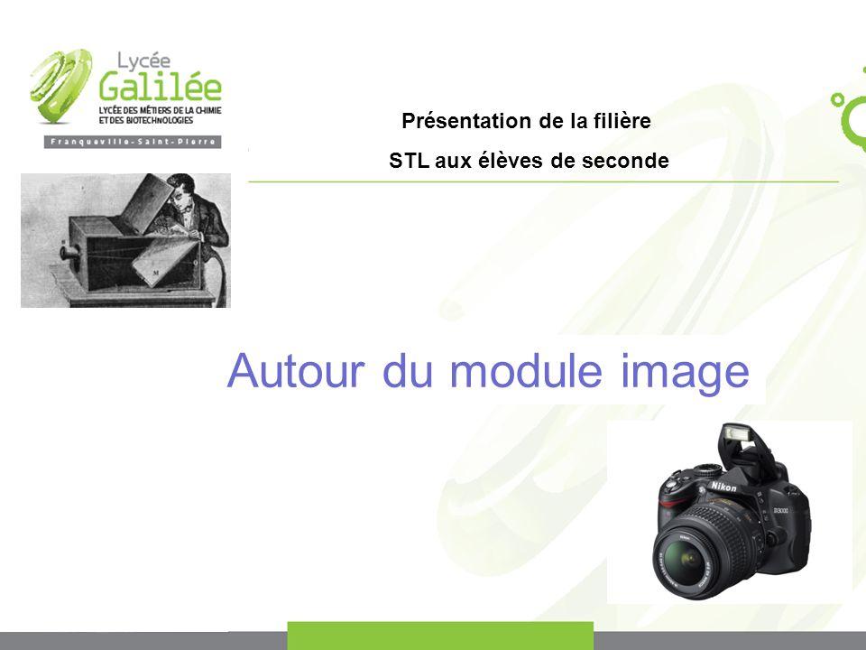 Présentation de la filière STL aux élèves de seconde Autour du module image