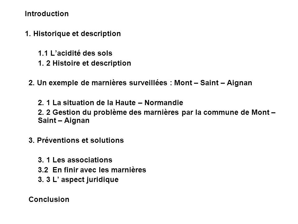 Introduction 1.Historique et description 1.1 Lacidité des sols 1.