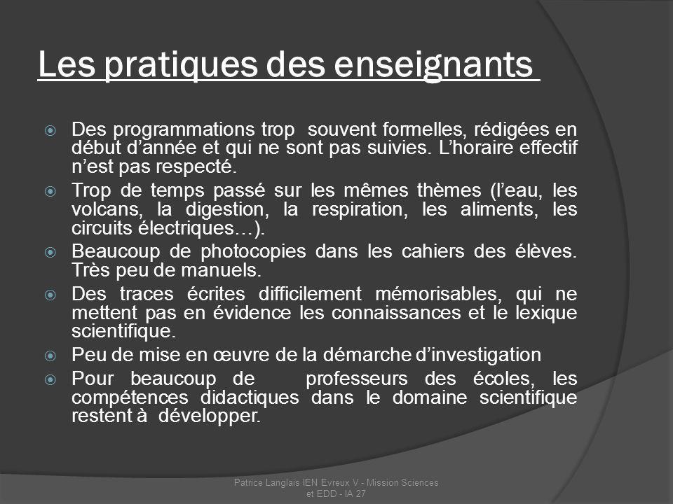 La formation Séminaire des formateurs du département de lEure, 13 septembre 2011 : état des lieux, présentation du plan sciences.