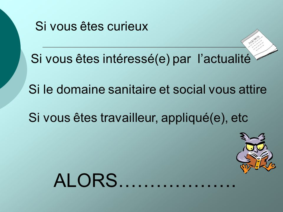 Bienvenue au sein de la section ST2S du Lycée Claude Monet LE HAVRE
