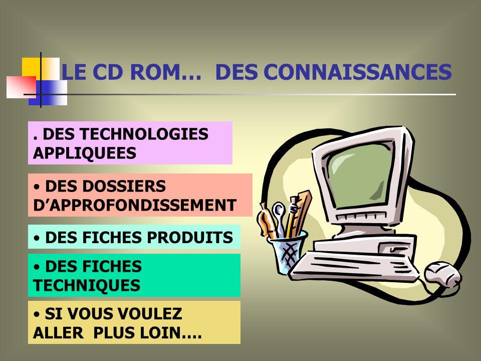 LE CD ROM… DES CONNAISSANCES SI VOUS VOULEZ ALLER PLUS LOIN….