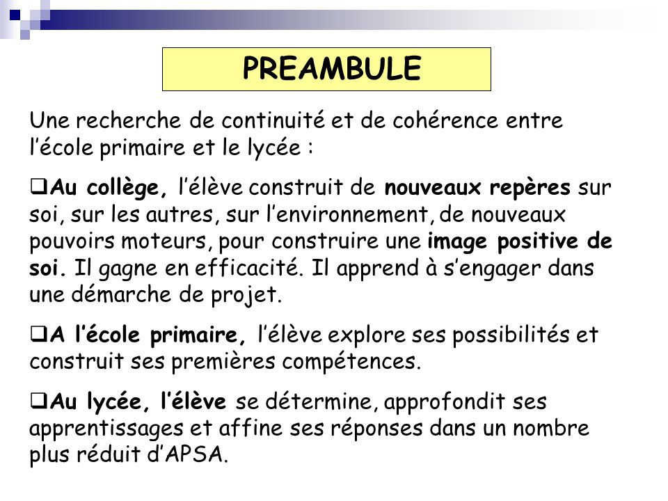 Une pratique obligatoire Un enseignement disciplinaire avec des contenus précisés dans le programme.