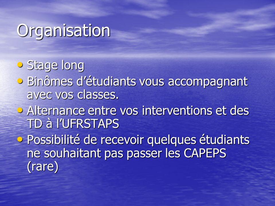 Objectifs du stage 1.Construire et animer des séances ou des ateliers.