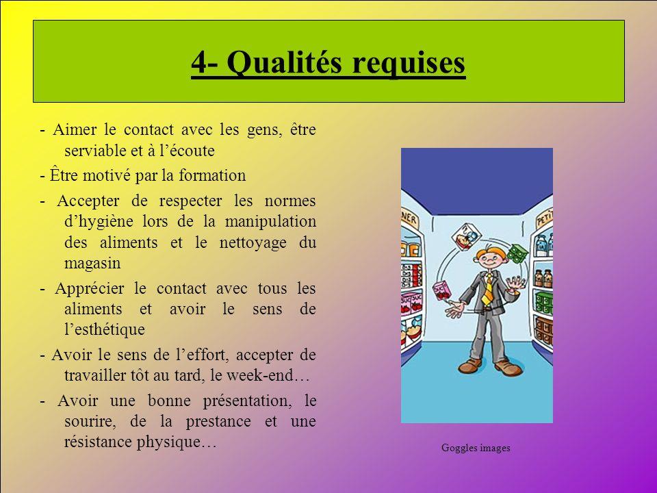 9 4- Qualités requises - Aimer le contact avec les gens, être serviable et à lécoute - Être motivé par la formation - Accepter de respecter les normes