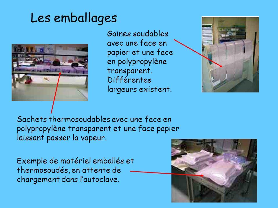 LA ZONE DE CONDITIONNEMENT ET STÉRILISATION Lobjectif du conditionnement est de garantir létat stérile jusquà louverture de lemballage. Cet emballage