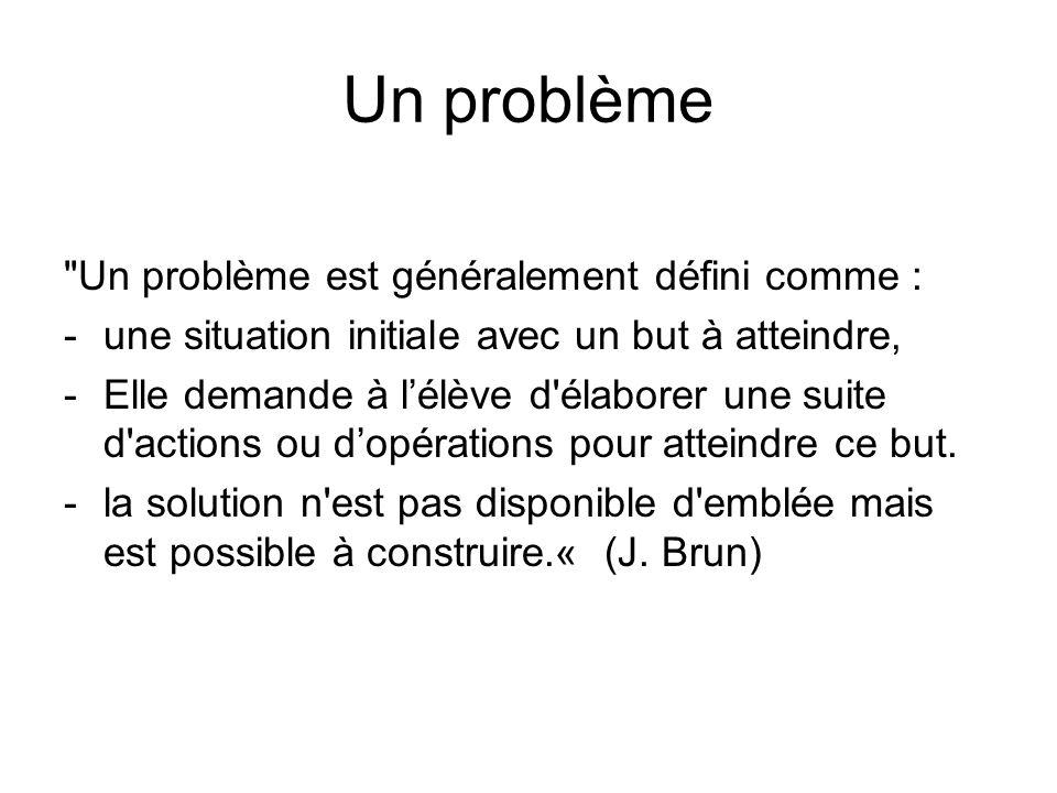 Un problème