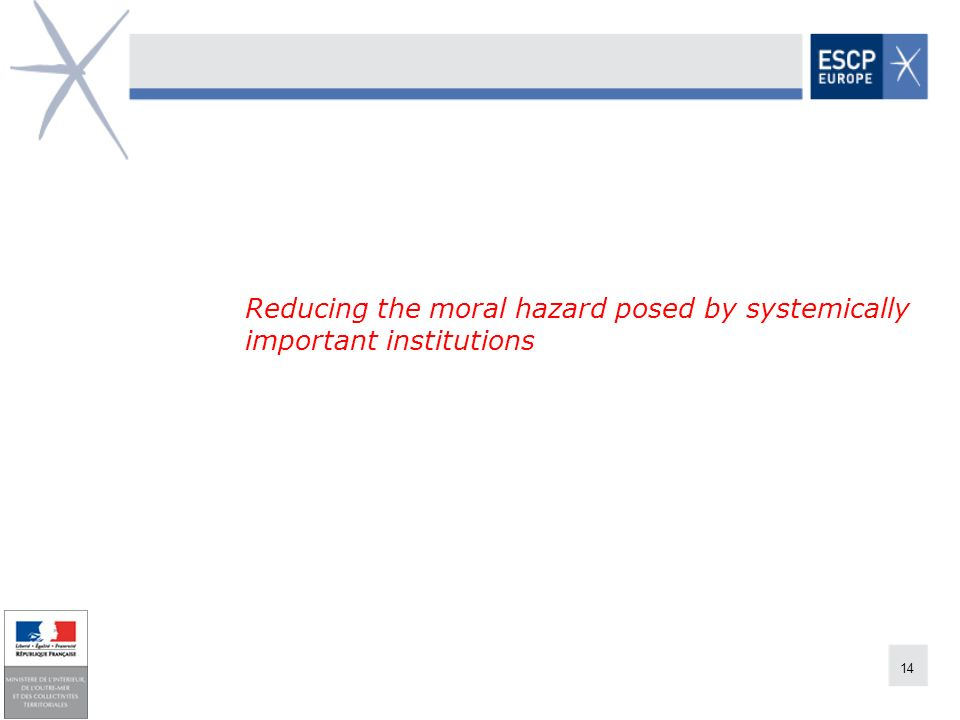 14 Reducing the moral hazard posed by systemically important institutions