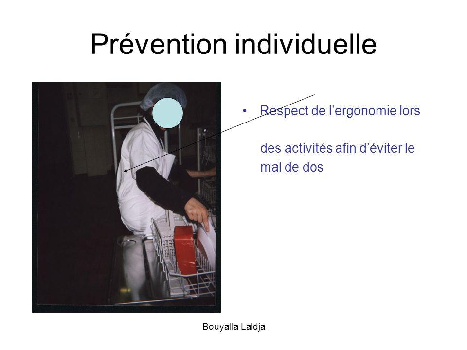 Bouyalla Laldja Prévention individuelle Respect de lergonomie lors des activités afin déviter le mal de dos