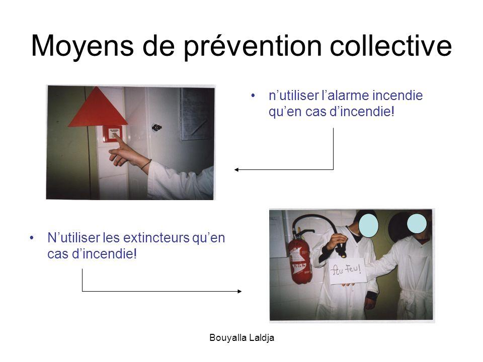 Bouyalla Laldja Moyens de prévention collective Nutiliser les extincteurs quen cas dincendie! nutiliser lalarme incendie quen cas dincendie!