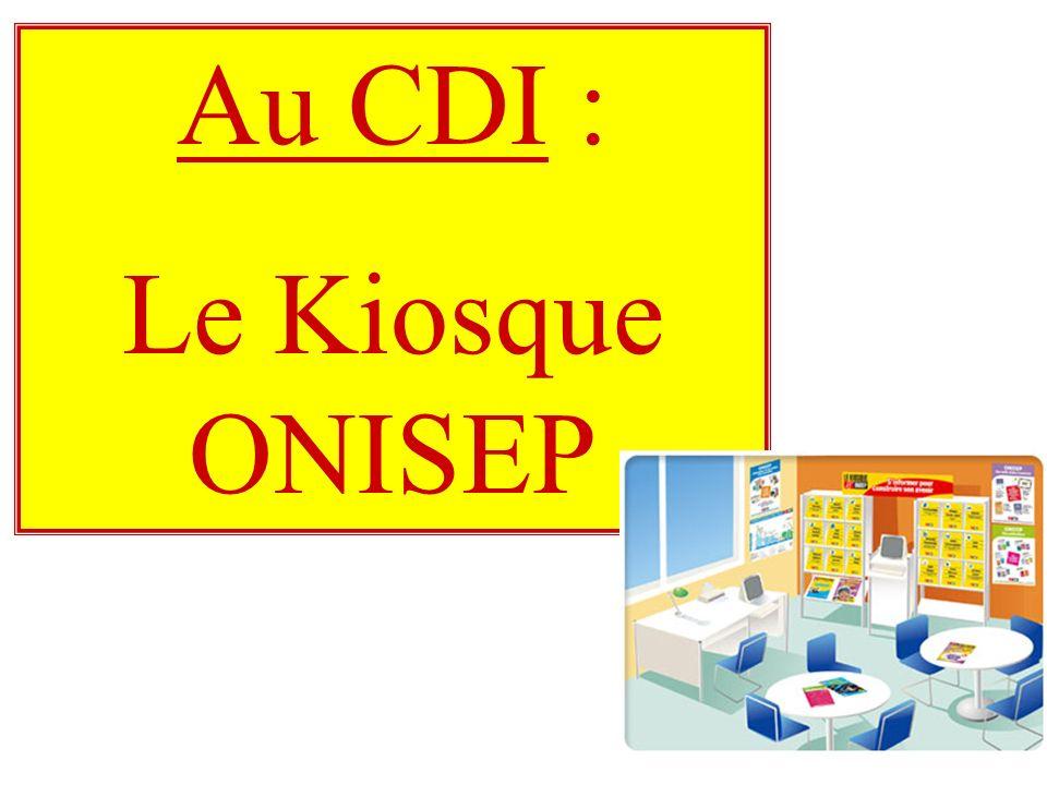Au CDI : Le Kiosque ONISEP