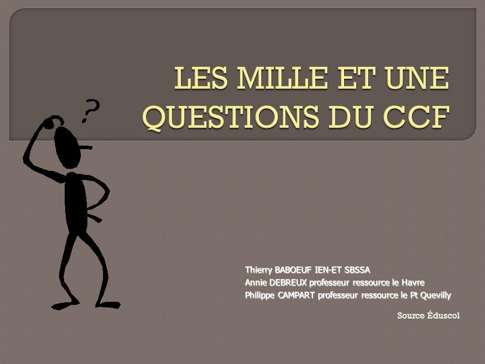 Thierry BABOEUF IEN-ET SBSSA Annie DEBREUX professeur ressource le Havre Philippe CAMPART professeur ressource le Pt Quevilly Source Éduscol
