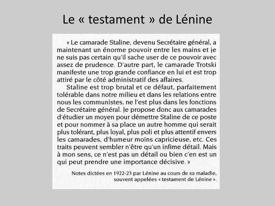 Le « testament » de Lénine